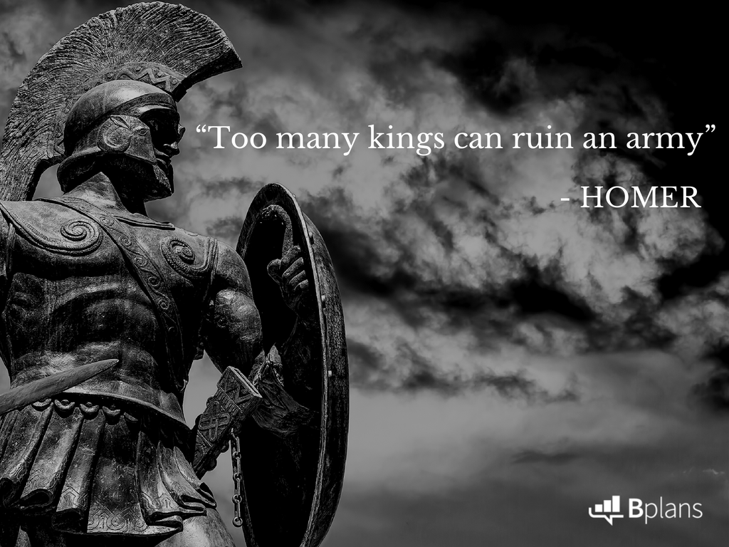 """Too many kings can ruin an army."" - Homer; Tweet this!"