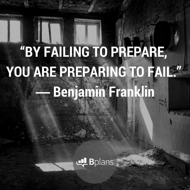 """""""By failing to prepare, you are preparing to fail."""" - Benjamin Franklin"""