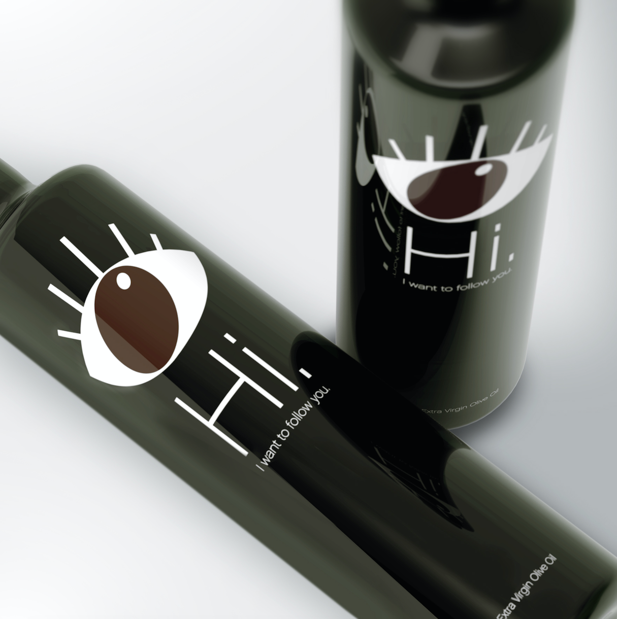 Two bottles of Enios Olive Oil as an example of successful product packaging design