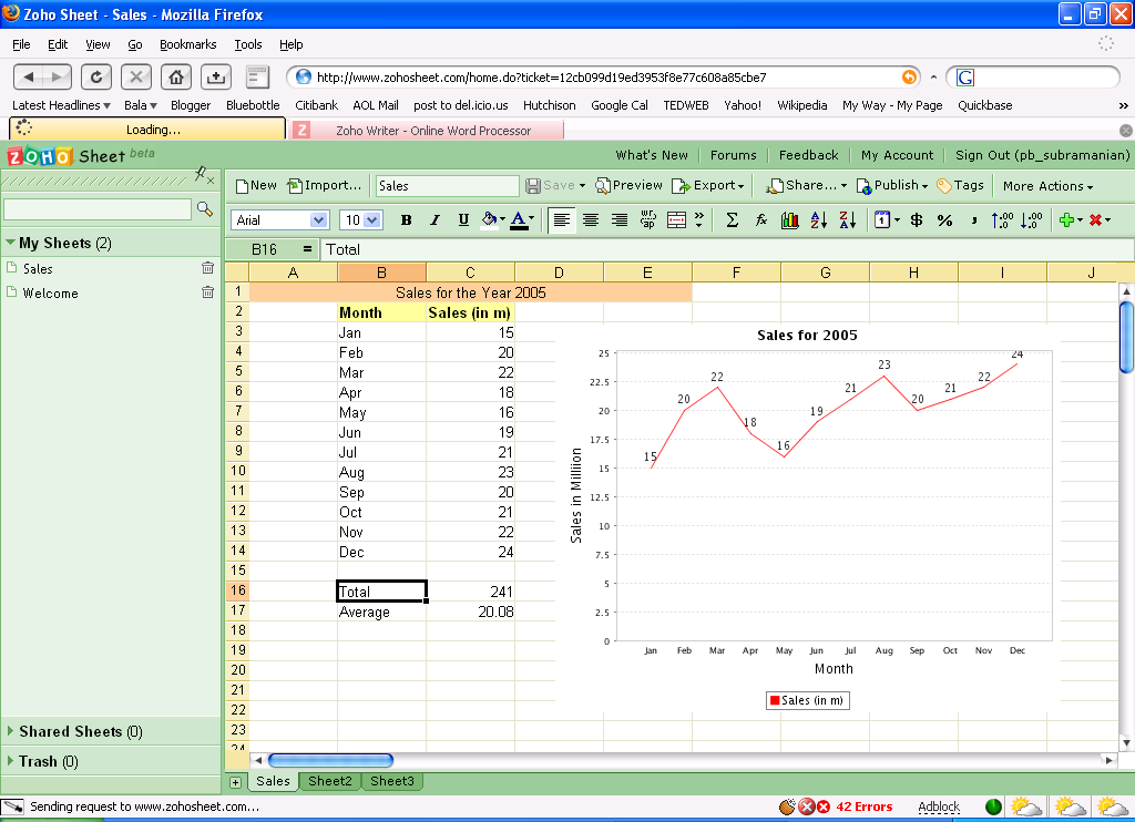 Zoho Sheet is one free alternative to Microsoft Excel